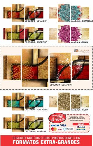 cuadros decorativos modernos textura+barniz - 1m x 42cm