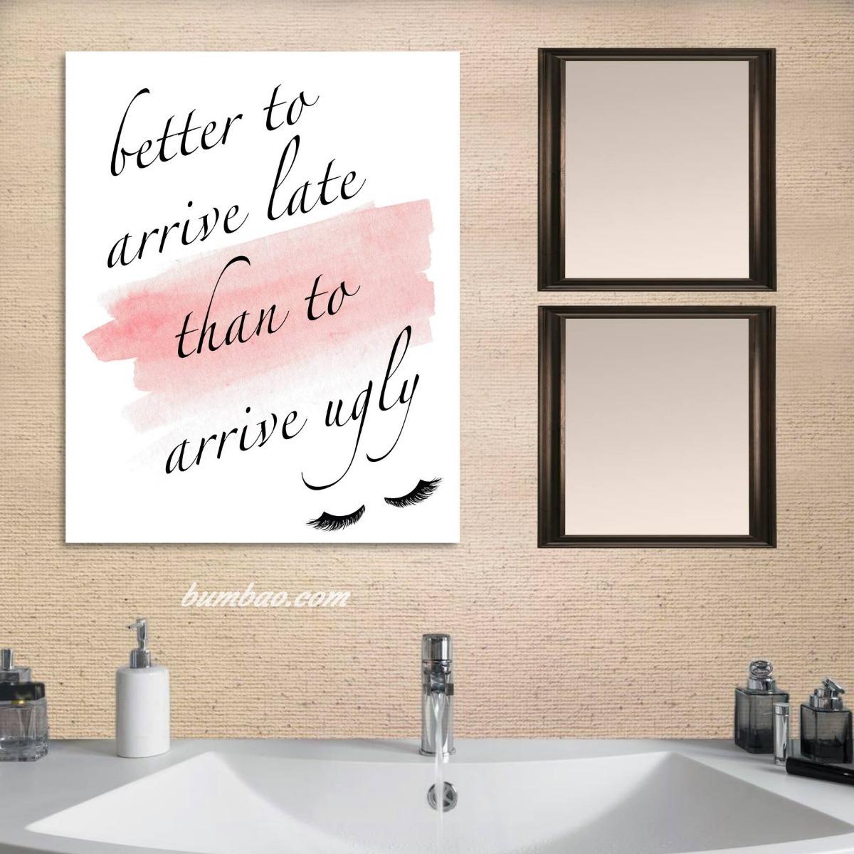 Cuadros decorativos para ba o frases motivacionales - Cuadros para bano ...