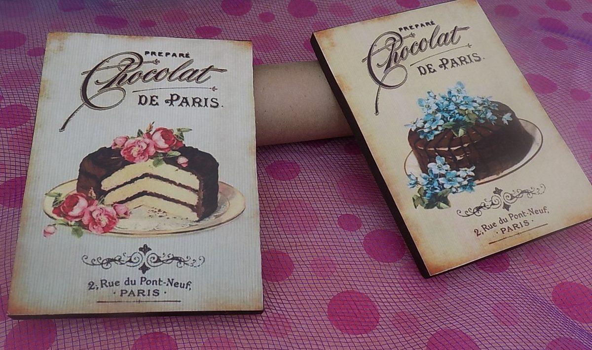 Cuadros decorativos para cocina vintage 2 pz vinilo - Cuadros cocina vintage ...