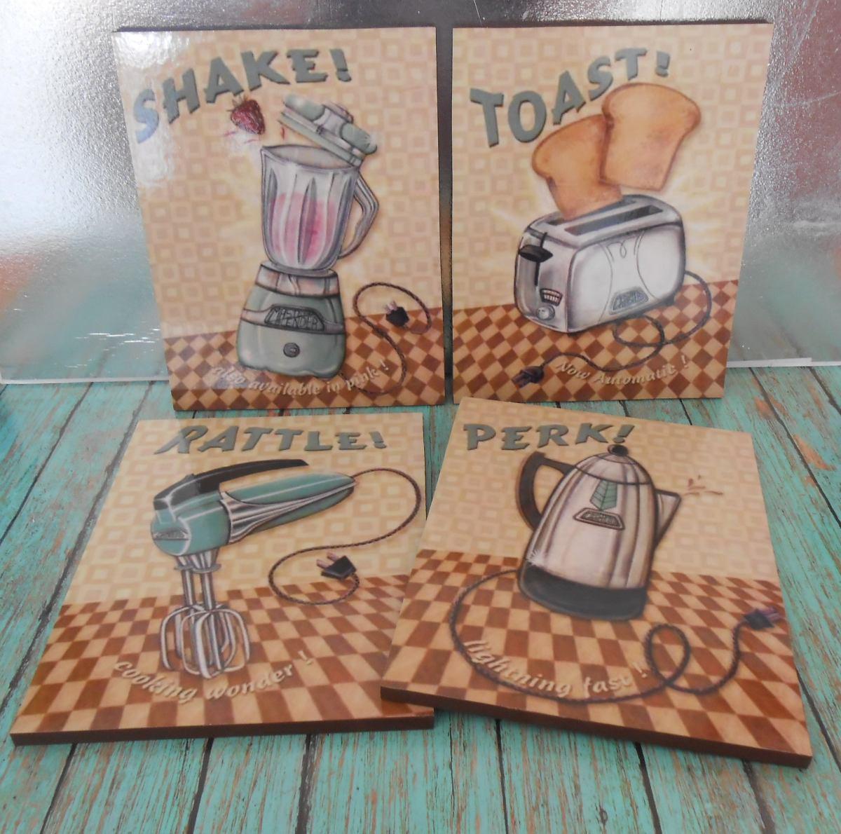 Cuadros Decorativos Para Cocina Vintage 20x26 4pz 438 00 En