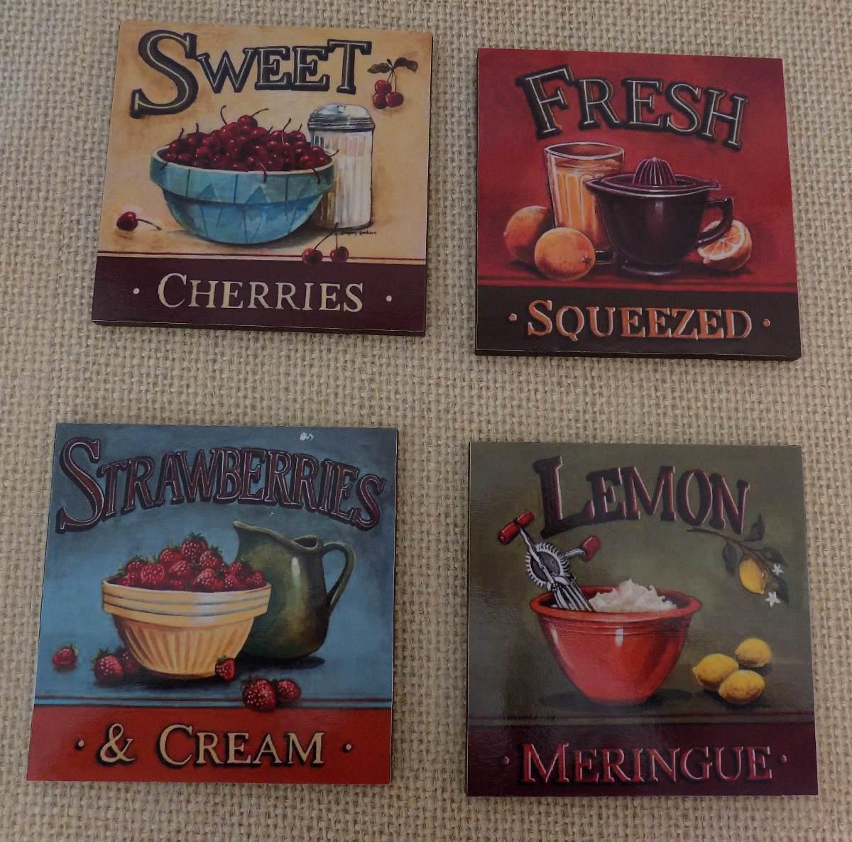cuadros para cocinas cuadros decorativos para cocina vintage 4 pz 20x20