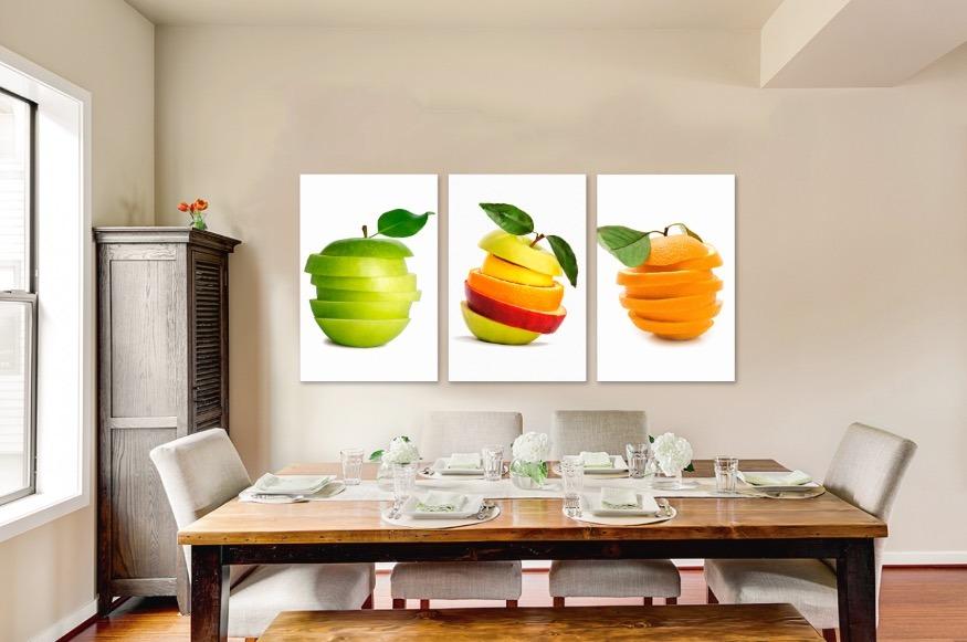 Cuadros Decorativos Para Comedor En Lienzo Canvas Estilo Galeria Listos  Para Colgar Tintas Ecologica