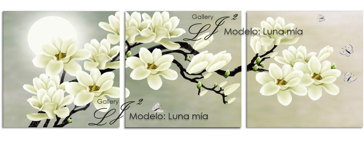 Cuadros decorativos para sala comedor orqu deas flores for Cuadros tripticos para comedor