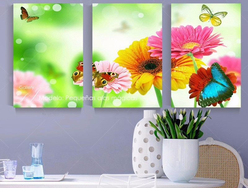 Cuadros decorativos para sala comedor orqu deas flores for Cuadros decorativos comedor