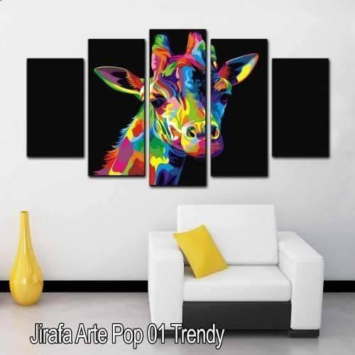 cuadros decorativos para salas modernas jirafa 1 en mercado libre. Black Bedroom Furniture Sets. Home Design Ideas