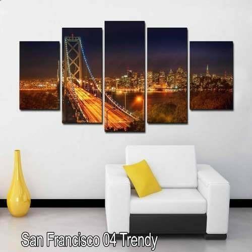 cuadros decorativos para salas modernas puente ciudad 1 en mercado libre. Black Bedroom Furniture Sets. Home Design Ideas