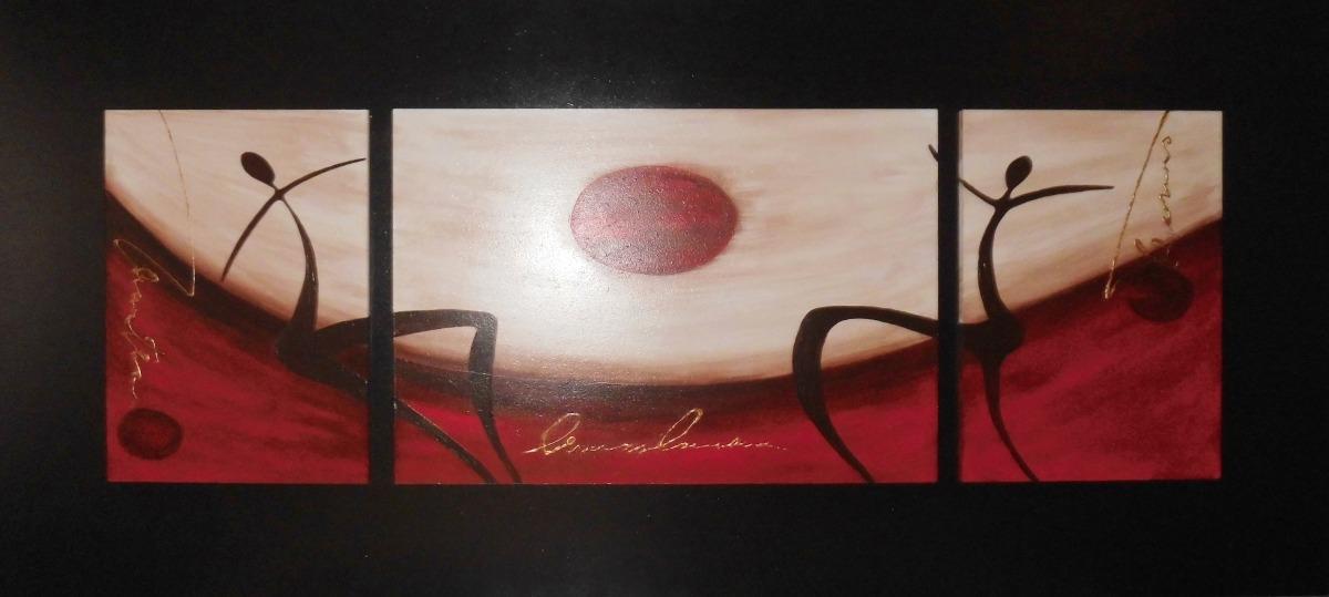 Cuadros Decorativos Pintados A Mano Sobre Mdf Tripticos - $ 800,00 ...