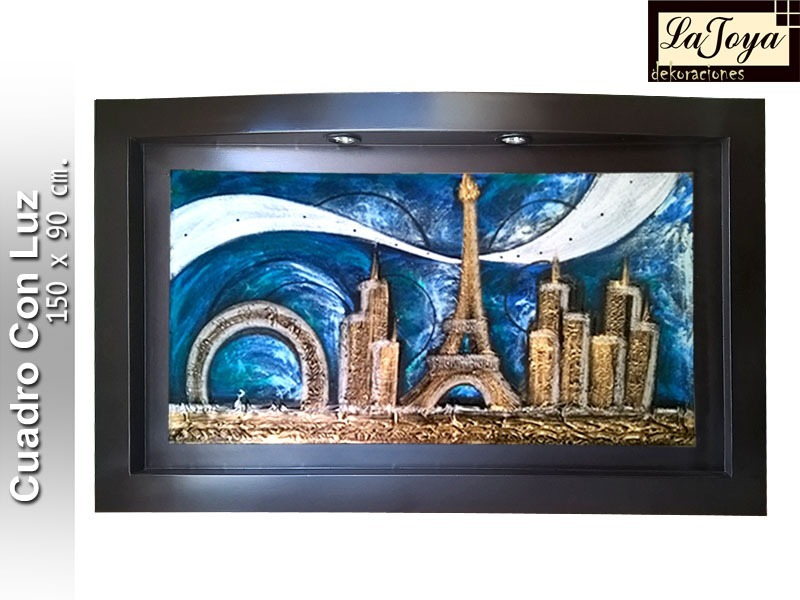 Cuadros Decorativos Texturizados - Con Luz - $ 1,549.00 en Mercado Libre