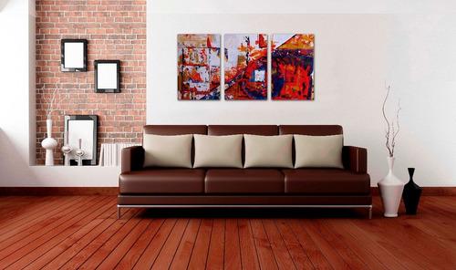 cuadros decorativos tripticos abstractos modernos economicos