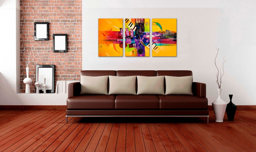 cuadros decorativos tripticos  economicos  135 x  70 cms