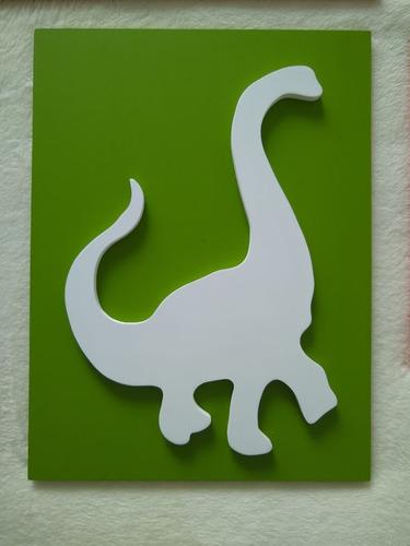 cuadros dinosaurio en madera - 40*30 cms