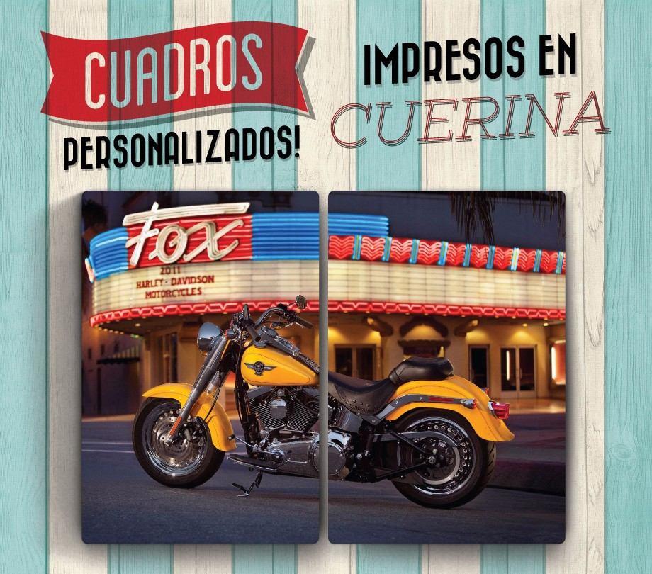 Cuadros Dipticos De Motos Impresos En Cuerina 60x40cm - $ 680,00 en ...