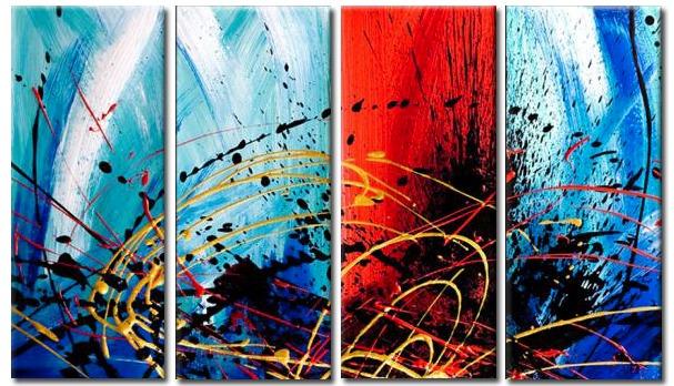Cuadros Dipticos Tripticos Modernos Y Abstractos 2 035 00 En