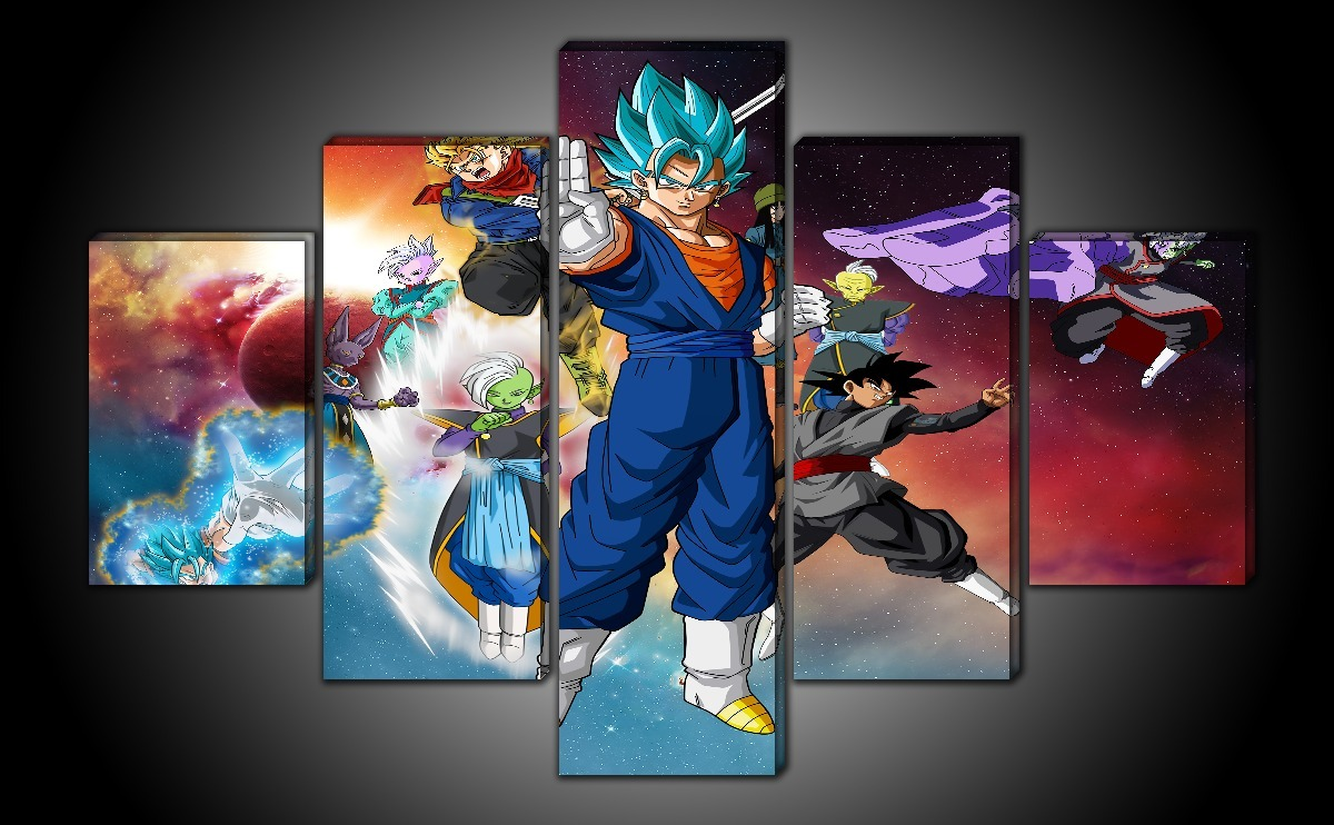 Cuadros Dragon Ball Super Saga Black Goku 5 Pzs - $ 1,359.00 en ...
