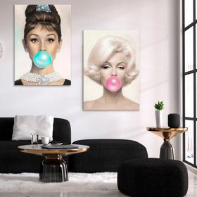 Cuadros En Canvas, Marilyn, Audrey Hepburn, Bardot Bubblegum