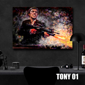 Cuadros En Canvas Scareface, Tony Montana, 100x70