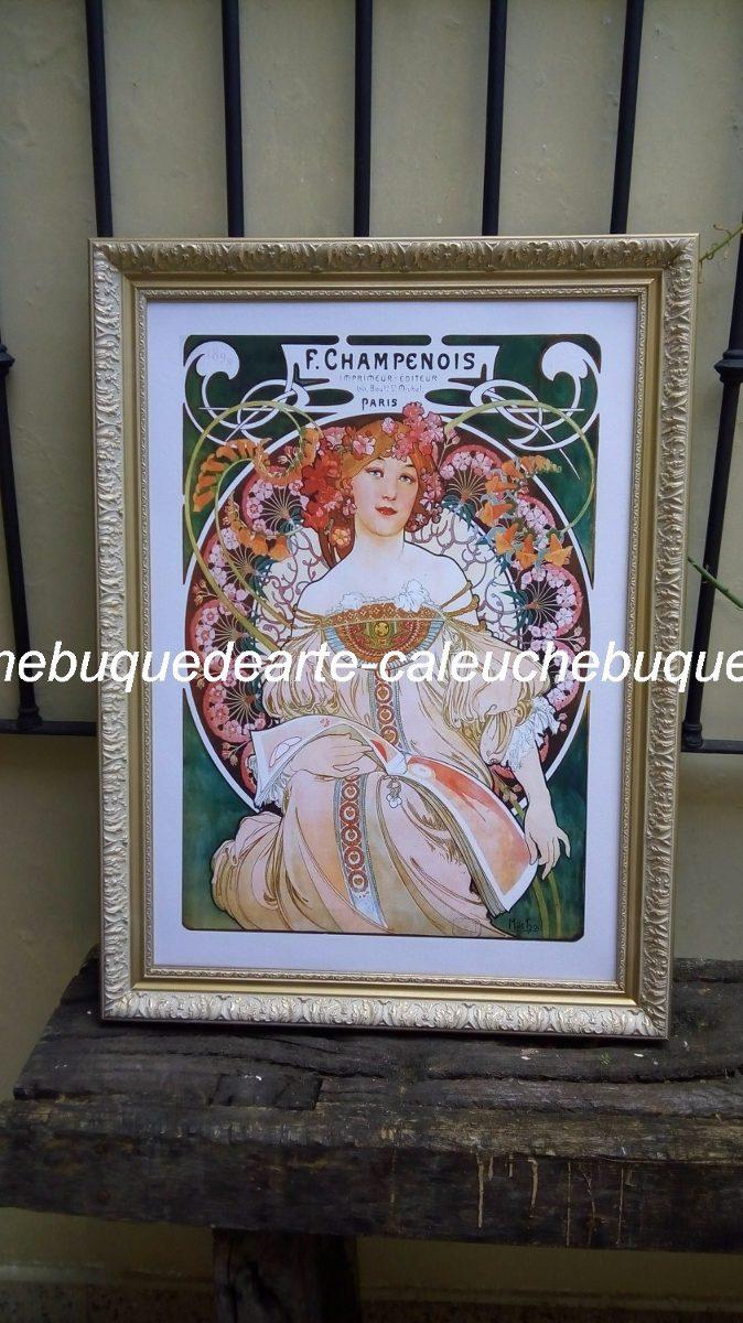 Cuadros En Lienzo Laminas Marcos Mucha 40x40 - $ 480,00 en Mercado Libre