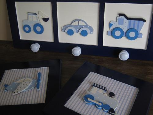 cuadros en relieve-cuadritos infantiles fibrofacil pintados