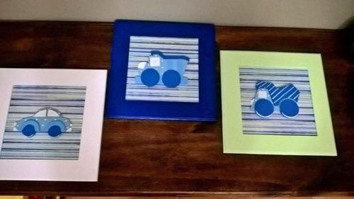 cuadros en  relieve -cuadritos infantiles pintados a mano