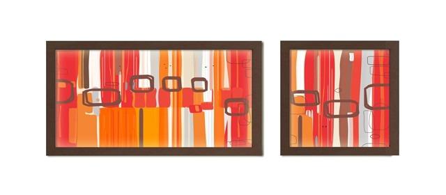 Cuadros En Serie Diseño Exclusivo Marco Nogal V.anti-reflejo ...