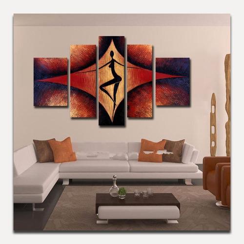 cuadros en varias piezas pintado al oleo, modernos
