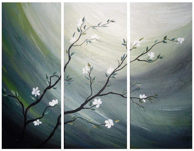 Cuadros Florales Dipticos Tripticos Modernos 1 762 58 En Mercado