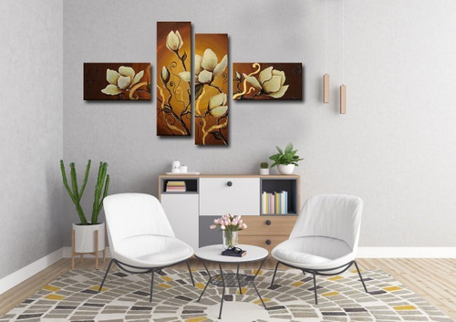 cuadros flores modernos, sala comedor, dormitorio