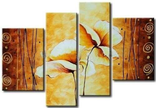 cuadros flores modernos texturados envio gratis todo pais