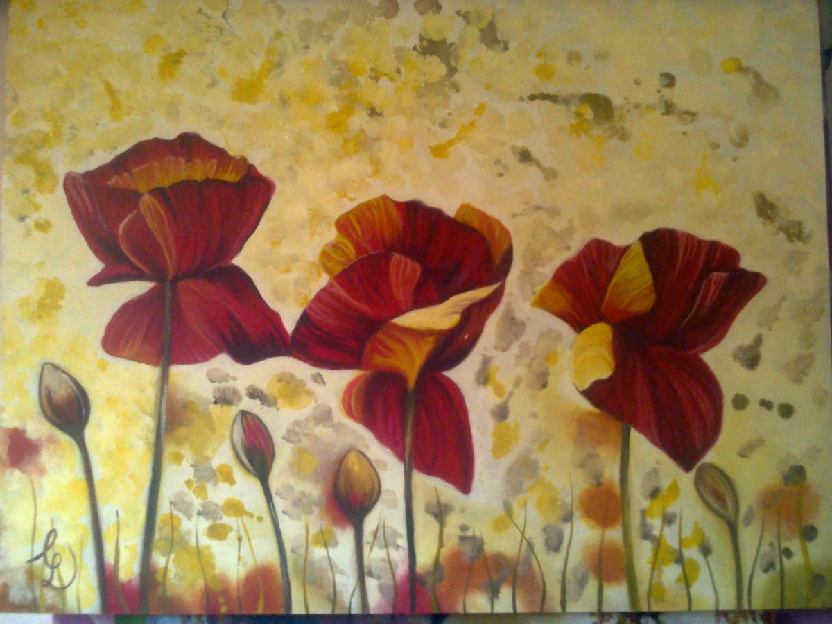 cuadros flores paisajes abstractos