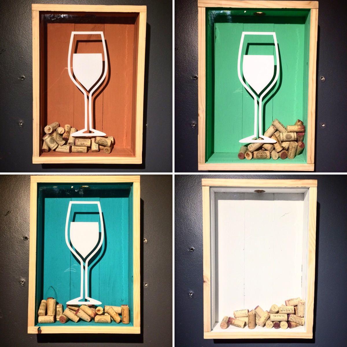 Cuadros guarda corchos esenmadera wine beer blues mini for Cuadros con corchos