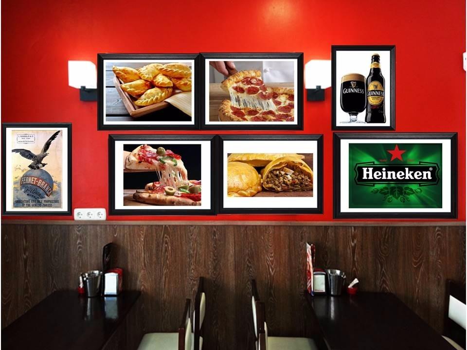 cuadros ideales para decorar barpizzeria resto bar