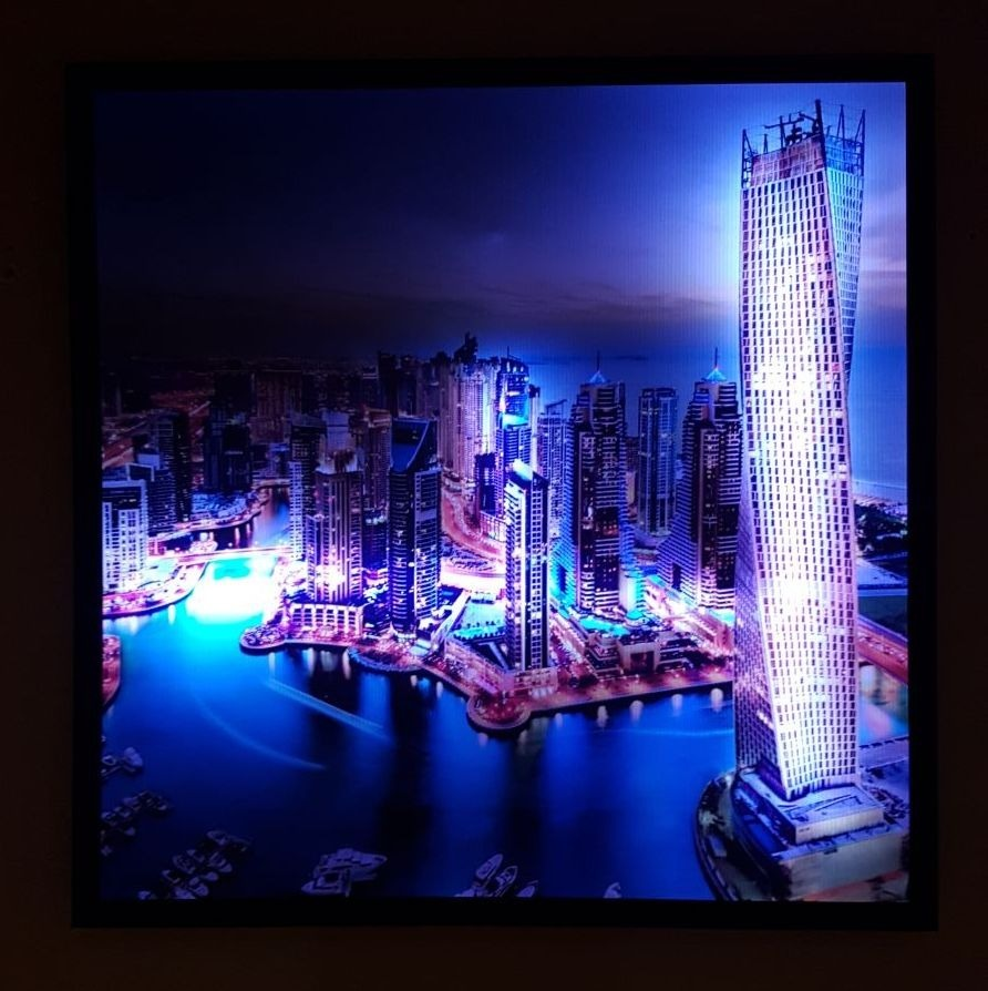 Cuadros Iluminados Con Led De Color 1.20x80 Unicos !!! - $ 2.800,00 ...
