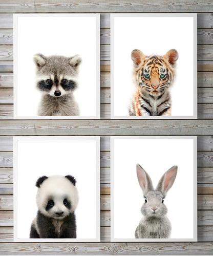 cuadros infantiles animales bebes estilo nordico