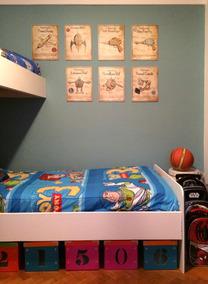 Cuadros Infantiles Cuarto Niños Decoración Habitación Retro
