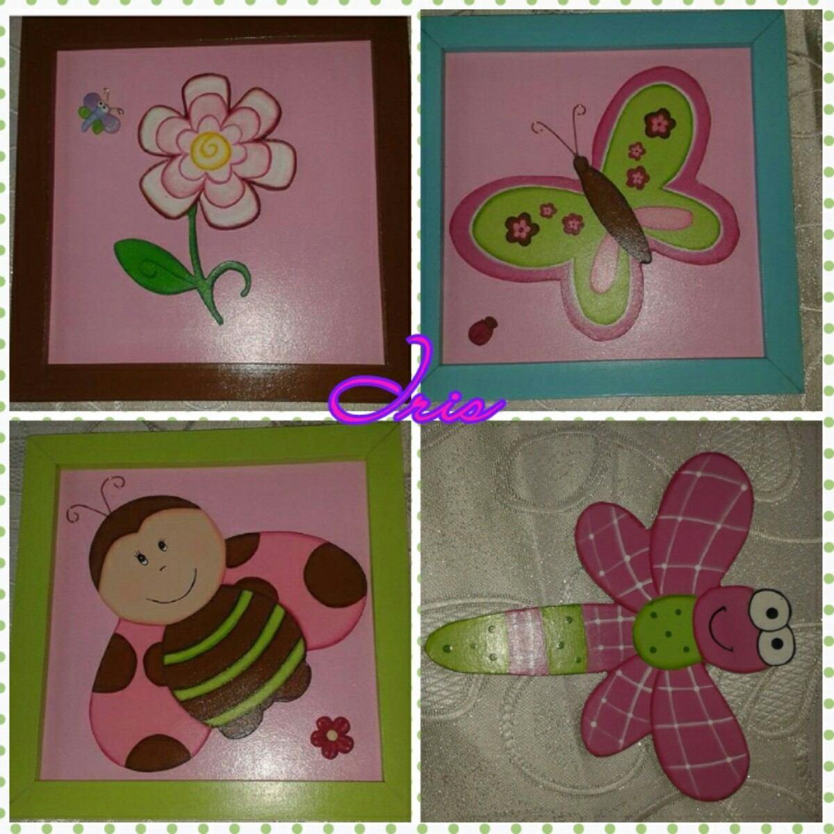 Cuadros infantiles decorativos en mdf bs en for Espejos decorativos infantiles