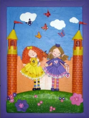 cuadros infantiles en relieve personalizados.