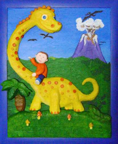 cuadros infantiles en relieve personalizados