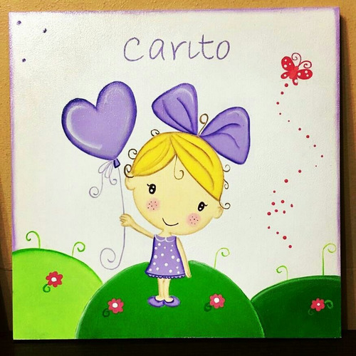 cuadros infantiles pintados a mano.cuadros con relieve. bebe