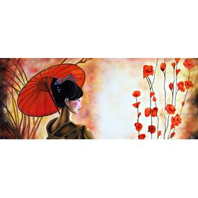 Cuadros Japonesas Pintados A Mano 100x50