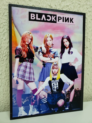 cuadros kpop bts twice black pink exo 44x32cm