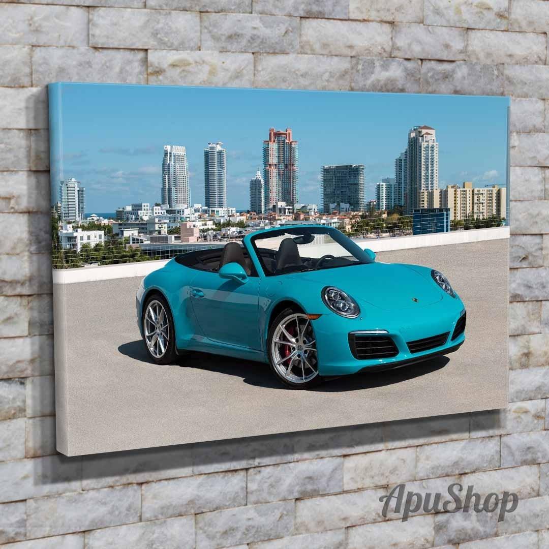 Porsche 911 Turbo Cuadro Lienzo Pared Impresión Artística Coche Deportivo