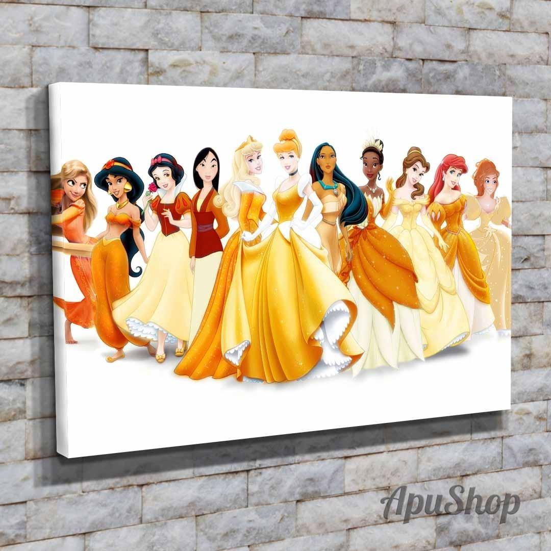 Cuadros Lienzo 60x40 Disney Princesas Dibujos Animados Nenas