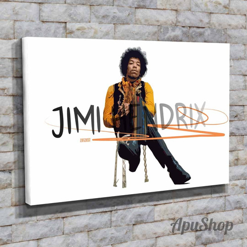 cuadros lienzo 60x40 jimi hendrix músico guitarrista rock