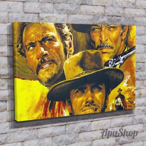 cuadros lienzo 60x40 películas el bueno el malo el feo y más