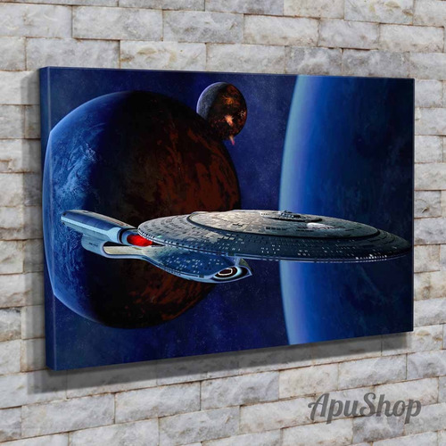 cuadros lienzo 60x40 serie tv star trek varios modelos naves