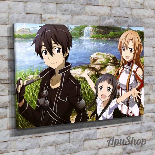 cuadros lienzo 60x40 sword art online animé manga dibujos