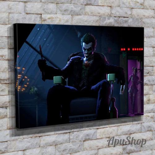 cuadros lienzo 60x40 videojuegos batman joker guasón arkham