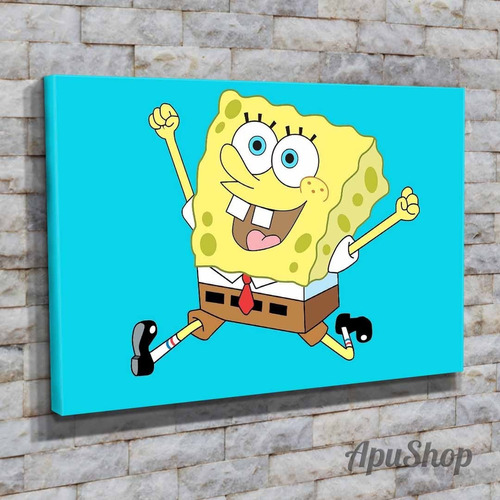 cuadros lienzo 75x50 bob esponja patricio dibujos animados