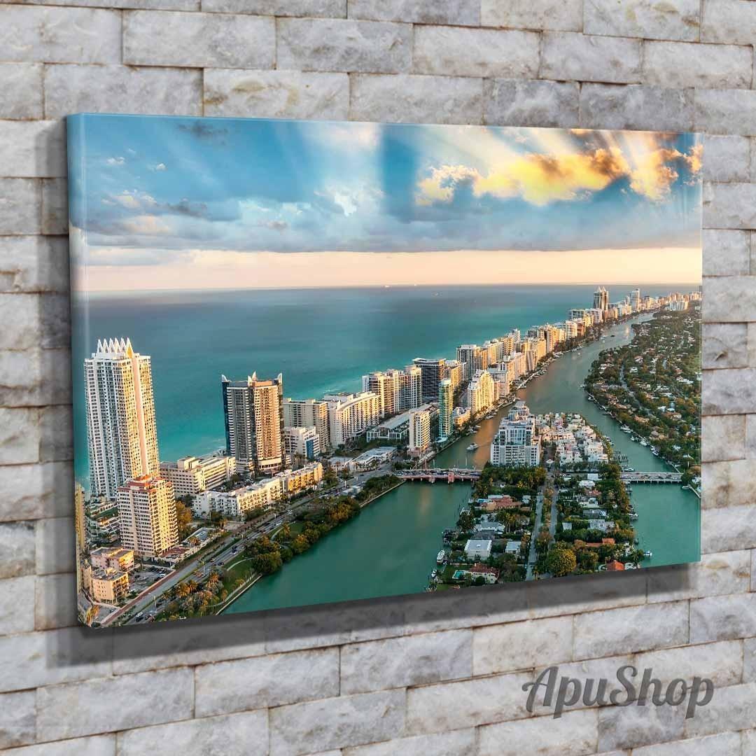 Cuadros Lienzo 75x50 Ciudades Miami Estados Unidos Y Más - $ 899,00 ...