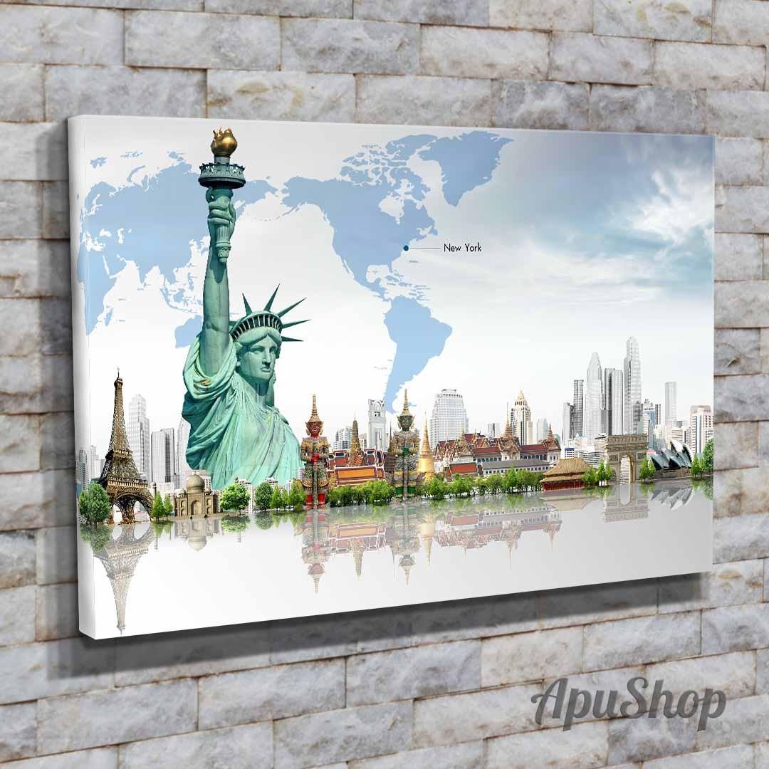 Cuadros Lienzo 75x50 Ciudades Orlando Estados Unidos Y Más - $ 899 ...